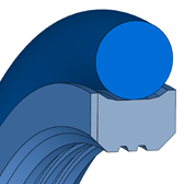 Cross section sketch Radial Seal M15