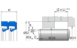 Installation sketch Radial Shaft Seal R58