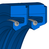 Cross section sketch Radial Shaft Seal R58
