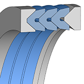 Cross section sketch Chevron Seal TFW