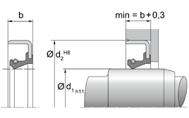 Installation sketch Radial Shaft Seal WB
